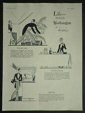Bridegroom Best Man Wedding Bottled Worthington Beer 1927 Page Ad Advertisement