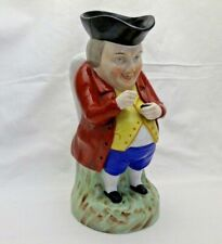 Antique Victorian Staffordshire Toby Jug the Snuff Taker Red Jacket 26 cm Tall