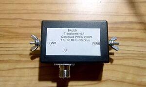 End Fed Dipole 160-10m Portable HF Antenna Matchbox SO-239