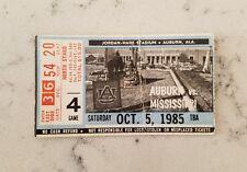 Auburn Tigers Ole Miss Rebels Football Ticket Stub 10/5 1985 Bo Jackson Record