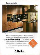 MIELE KITCHENS ADVERT - 1994 - Wood Veneer and Laminate Kitchens Advertisement
