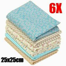 DIY 6PCS Bundles Fabric Fat Quarters 100% Cotton Florals Craft Quilt Sewing UK