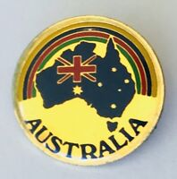 Australia Flag Rainbow Retro Souvenir Travel Lapel Pin Badge Rare Vintage (J11)