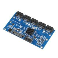 SATA Expansion Card 1 to 5 Port SATA3.0 Motherboard 6Gbps Riser Card HUB Adapter