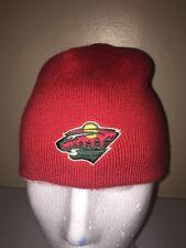 NHL MINNESOTA WILD REEBOK REVERSIBLE WINTER STOCKING Baseball Cap Trucker Hat BB