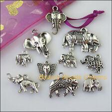 10 New Mixed Lots of Tibetan Silver Tone Animal Elephant Charms Pendants