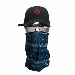 Headwear Face Wrap Tube Seamless Headband Bandana Mask Scarf- Blu Blu - A5641