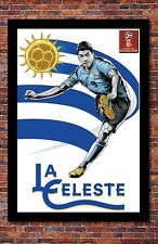 2018 World Cup Soccer Russia   TEAM URUGUAY Poster   13 x 19 inches