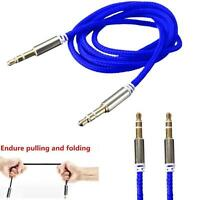 3.5mm Stereo Jack to Jack Male Car Aux Cable Audio Auxiliary Lead For Phone L FF
