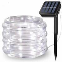 FANSIR Solar String Lights Outdoor Rope Lights, 8 Modes 100 LED Solar Powered