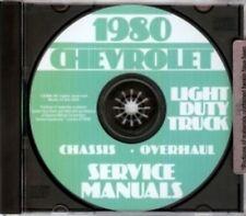 CHEVROLET 1980 Pickup, Van, Blazer, Suburban & Truck Shop Manual CD