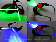 Eye Safety Glasses for Red Blue Green Laser UV Light Protection Goggles w/ Case