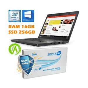 "Ordinateur Portable Lenovo L470 I5 6200U 14 "" DDR4 16GB SSD 256GB Batterie Neuf"