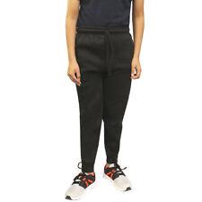Kids Boys Girls Childrens Plain BLACK Sweat Jog Tracksuit Pants Joggers No Logo