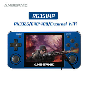 NEW ANBERNIC RG351MP Retro Game Console Player RK3326 2400 Games Metal Console