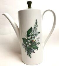 More details for vintage retro myott coffee pot floral design made in england