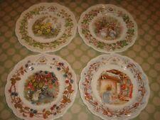 royal doulton brambly hedge 4 seasons set of plates x 4 21cm vgc bone china