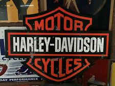 HARLEY DAVIDSON SIGN LOGO SHIELD  HEAVY DUTY DIE CUT METAL SIGN  MOTORCYCLE