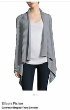Eileen Fisher $558 NWT Cashmere Sweater Cardigan Moon Color , M