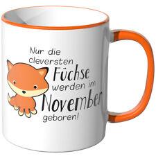 """JUNIWORDS Tasse """"Die cleversten Füchse - November geboren"""" Geschenk Geburtstag"""