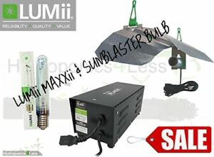 SALE Lumii MAXii Ballast Grow Light Kit Hydroponic Sunblaster 600w Dual Bulb HPS