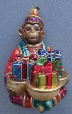 Jay Strongwater Monkey With Gifts Jeweled Ornament Swarovski Elements New in Box