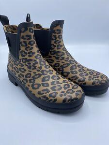 NEW TRETORN Women's Size 7 Leopard Lina 2 Rainboot Eco Ortholite Insoles