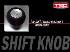 Vitz RS NCP131 MT TRD  shift knob for M12x1.25 5MT cars leather wrap red stitch
