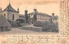 Derneburg Germany Gruss aus birds eye view of castle antique pc Z26143