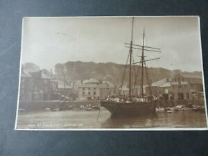 SAILING SHIP IN PADSTOW HARBOUR - JUDGES RP 7653
