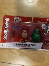 Angry Birds Mission Flock Pack Leonard & Red Figure 2-Pack New