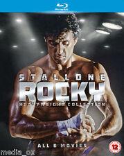 Rocky: The Heavyweight Collection 1 2 3 4 5 & 6 Saga Box Set | New | Blu-ray