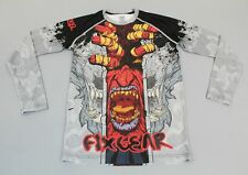 Fixgear Men's L/S Beast Graphic Print Cycling Jersey AN3 Black/Red/White Medium