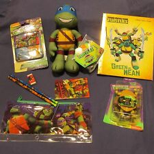 Teenage Mutant Ninja Turtles TMNT Lot Plush Toy Book Pencil Case Water Grow New