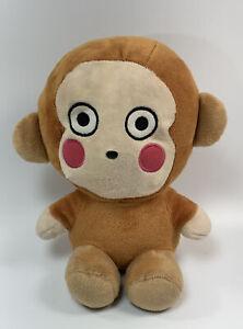 2012 SANRIO Plush MONKICHI MONKEY Brown HELLO KITTY Stuffed Animal Vtg