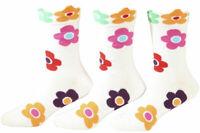 Country Kids Girl's 3-Pairs Daisy Crew Socks
