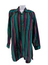 YVES SAINT LAURENT TOP Tunic Shirt Striped Long Sleeve VINTAGE Size 46