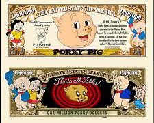OUR PORKY PIG CARTOON DOLLAR BILL (2 Bills)