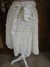 LADIES WOMENS CREAM GOING OUT FORMAL WEDDING SKIRT PRINCIPLES PETITE 12 USED