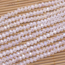 Bulk 1500PCS 4mm Carved Abacus AB White Clear Czech Glass Crystal Loose Beads