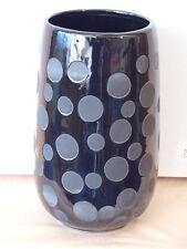 sehr schöne große Vase, Blumenvase, schwarz, Keramik, 21cm. neu