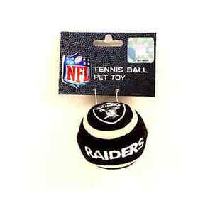 Brand NEW -  NFL Licensed Oakland Raiders Pet Dog Tennis Ball Toy - Lot of 2