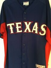 Majestic Authentic Collection Texas Rangers cool base custom team jersey size L