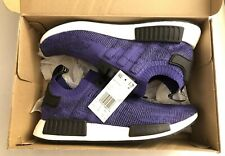 Adidas NMD R1 PK Primeknit Men's Size 10 Running Shoes Purple Ink B37627 NEW