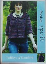Twilley's  Ladies Jacket  Knitting Pattern In Freedom Spirit  Leaflet 9061