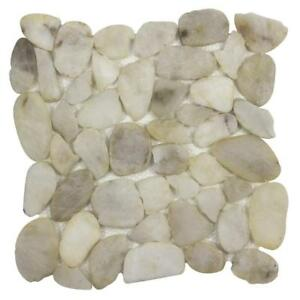 Modern Pebble Beige Pebble Stone Mosaic Tile Backsplash Kitchen Wall MTO0342