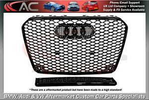 RS5 STYLE (GLOSS BLACK) FRONT GRILL (2012-2015) B8.5 - FIT AUDI A5 & S5