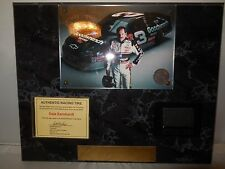 dale earnhardt used winston cup race tire and photo plack