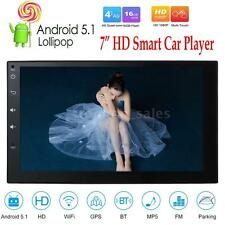 "7"" Quad Core Android 5.1 2 Din Stereo Car GPS Navi MP5 Player WiFi In-Dash Radio"