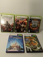 Xbox 360 Games Lot (5), Mass Effect 2 Assassin's Creed/ Disneyland/ Kinectmals
